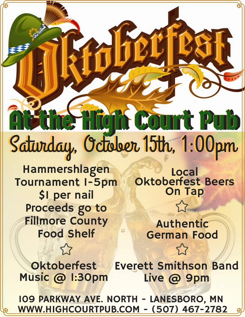 Octoberfest at the High Court Pub in Laneboro Minnesota.